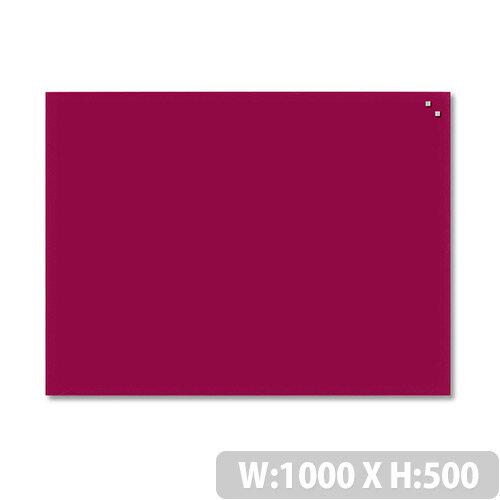 Franken Glass Magnetic Board 1000x500mm Red GT5010001
