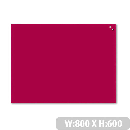 Franken Glass Magnetic Board 600x800mm Red GT608001