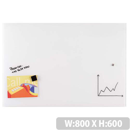 Franken Glass Magnetic Board 600x800mm White GT608009
