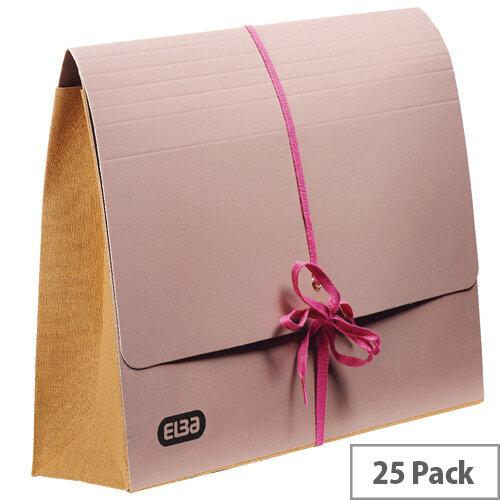 Elba Deed Legal Wallet Foolscap Buff Capacity 75mm Pack of 25