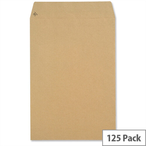 New Guardian 330x279mm 130gsm Manilla Peel and Seal Pocket Envelopes Pack of 125