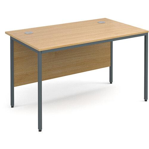 Maestro H-Frame straight desk 1228mm - oak