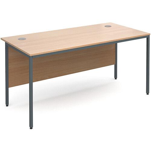 Maestro H-Frame straight desk 1532mm - beech