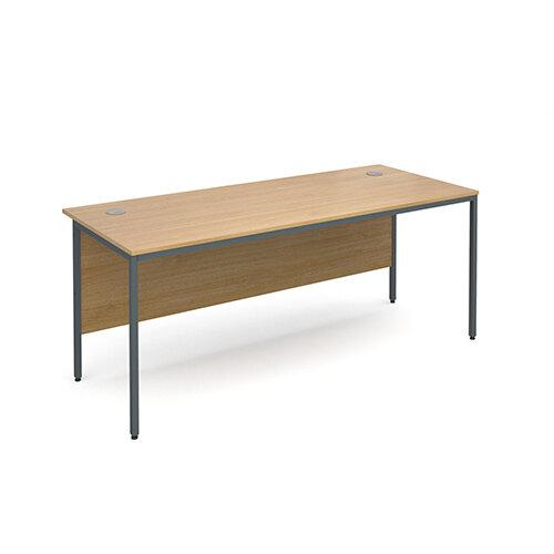 Maestro H-Frame straight desk 1786mm - oak