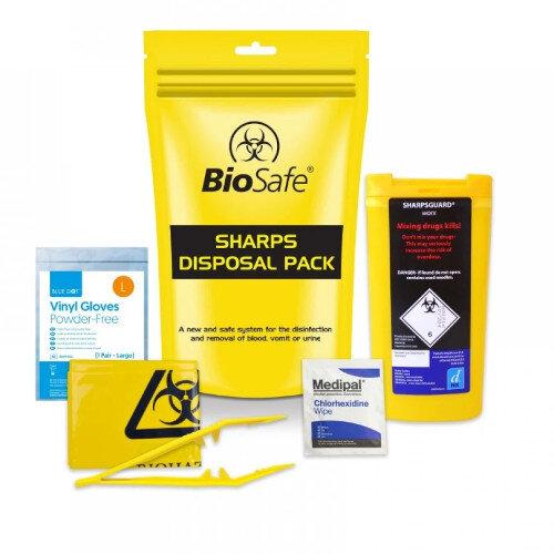 Biohazard Sharps Disposal Pack Single
