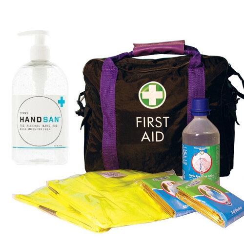 First Aid Bag Including 500ml Hand Sanitiser Astroplast Emergency Evacuation Bag