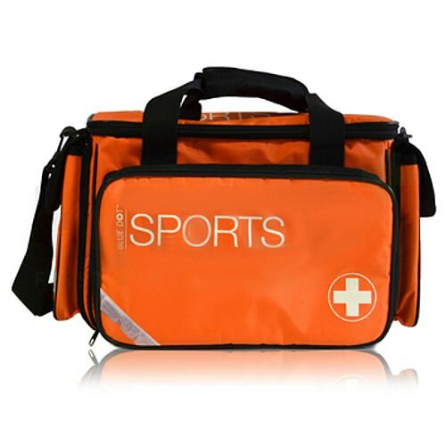 Advanced Sports First Aid Kit Complete in Large Orange Bag 1-50 Person