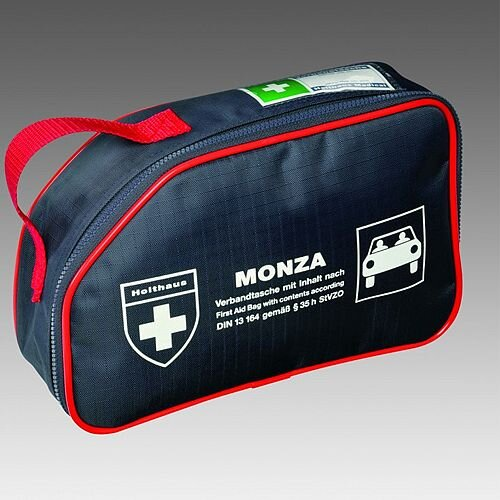 Monza First Aid Kit Car Bag DIN – High Quality, HSA Compliant for PSV Irish Taxi First Aid Kit, Suitable For Motor Environments, Durable, Compact, Zipped, Well-Stocked &Medium Size For 1-5 People (F30801)