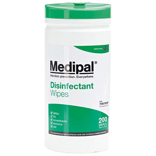 Medipal Healthcare Disinfectant Wipes Canister Pack of 200