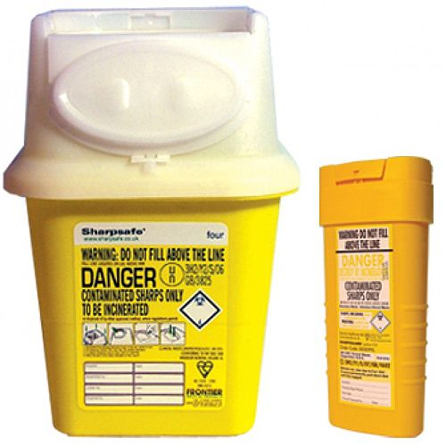 Clinical Waste Sharps Disposal Bin 4 litre Yellow 4402004