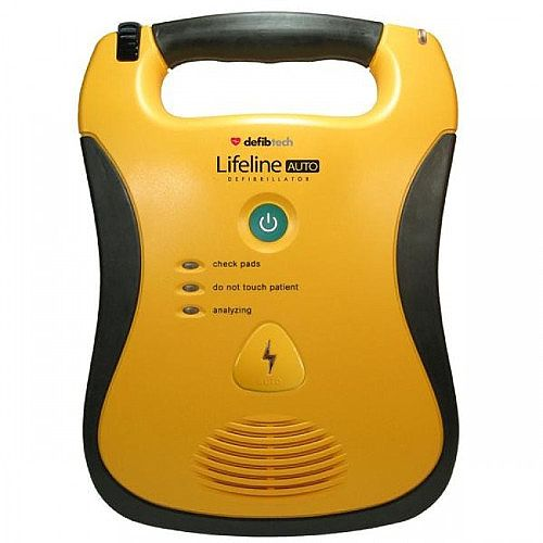 Defibtech Lifeline AUTO Fully Automatic Defibrillator - Rugged, Durable Design - Clear Voice Prompts - One-Button Operation - DDU-120E 5001166