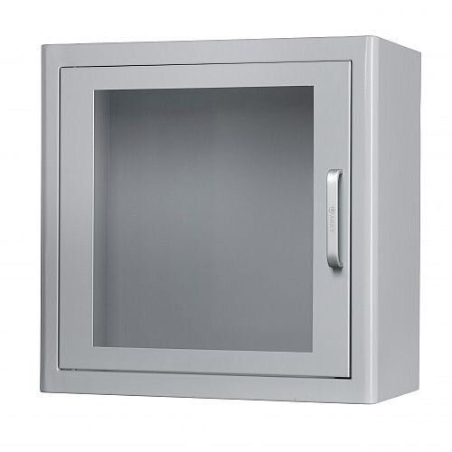 ARKY Indoor AED Defibrillator Cabinet White Metal Alarmed 5003003