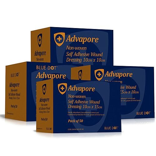 Advapore Adhesive Wound Dressing 9cm x 10cm Pack of 50