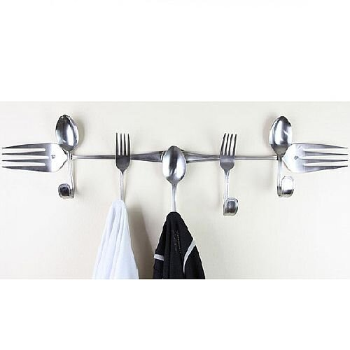 """""""Forked Up Art"""" Wall Rack Gift"""