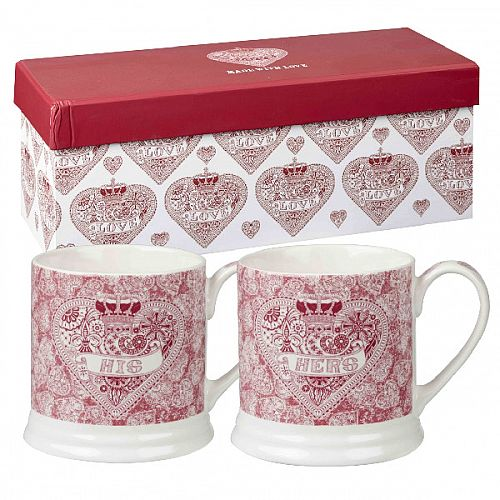 Churchill China Made With Love His &Her Mug Set