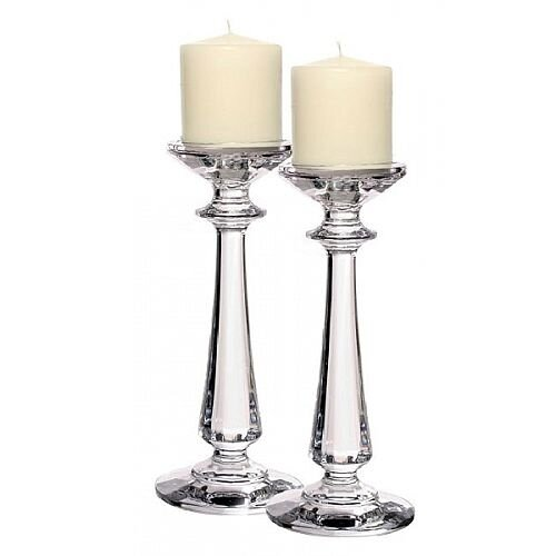 "Tipperary Crystal Pair Of 10"" Bacchus Candlesticks - Gift Set"