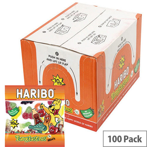 Haribo Tangfastics Small Bag Jelly Sweets (Pack of 100) 73142