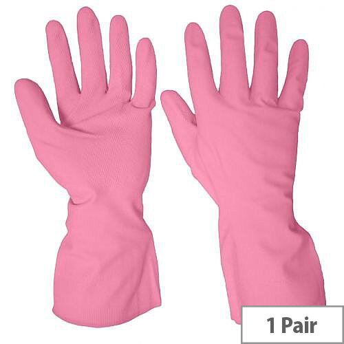 Shield Household Rubber Gloves Medium Pink Pack of 1 GR01P