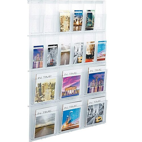 Helit Wall Display 18 Pockets Clear