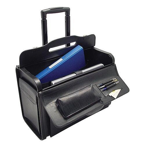 Pilots Case Wheelie Black Briefcase
