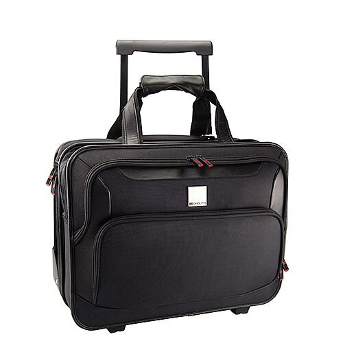 Monolith Deluxe Nylon Wheeled Laptop Case Black