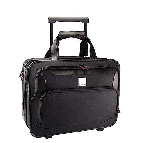 Monolith Deluxe Nylon Wheeled Laptop Case Black