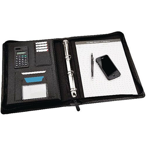 Monolith Meeting Folder Zipped Black 2827