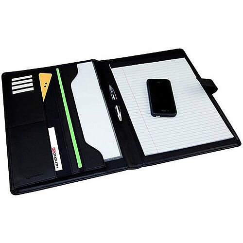 Monolith Black Leather-Look Conference Folder