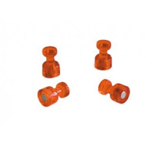 Franken Decorative Magnetic Memo Holders Orange Pack of 4 HMH1803