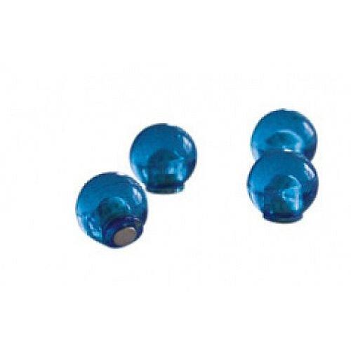 Franken Decorative Magnetic Sphere 14mm Blue Pack of 4 HMK1403