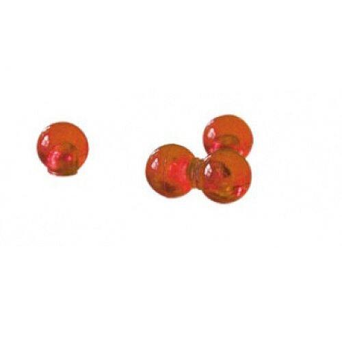 Franken Decorative Magnetic Sphere 14mm Orange Pack of 4 HMK1405