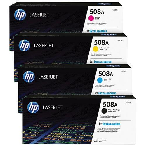 HP 508 Toner Cartridge Bundle Cyan/Magenta/Yellow/Black Pack of 4 HP815970