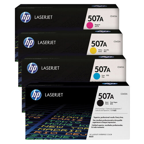 HP 507 Toner Cartridge Bundle Cyan/Magenta/Yellow/Black Pack of 4 HP815971