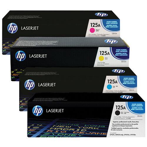 HP 125A Toner Cartridge Bundle Cyan/Magenta/Yellow/Black Pack of 4 HP815973