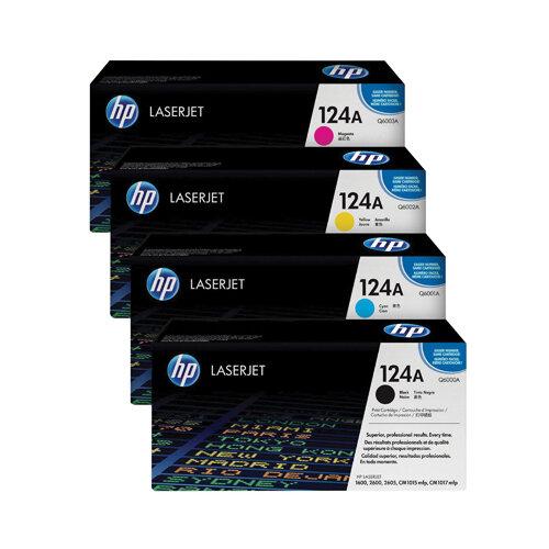 HP 124A Toner Cartridge Bundle Cyan/Magenta/Yellow/Black Pack of 4 HP815974