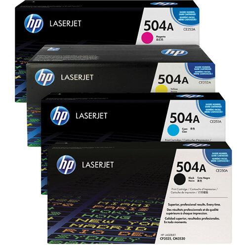 HP 504A Toner Cartridge Bundle Cyan/Magenta/Yellow/Black Pack of 4 HP815975