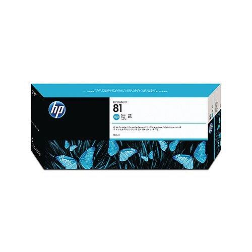 HP 81 Cyan Inkjet Cartridge Dye Ink C4931A