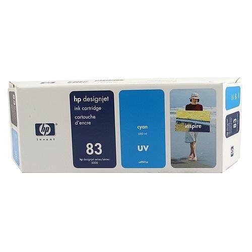 Hewlett Packard No83 UV Inkjet Cartridge Cyan C4941A