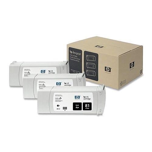 HP 81 Black DesignJet Dye Ink Cartridges C5066A