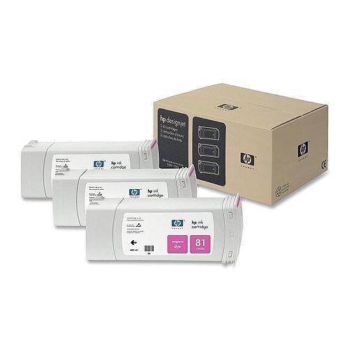HP 81 Magenta DesignJet Dye Ink Tri-Pack C5068A