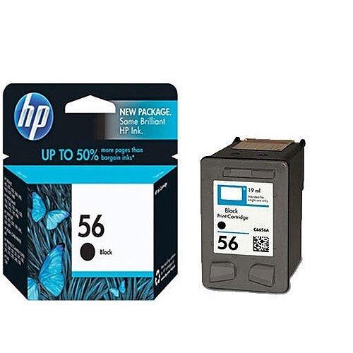 HP 56 Black Ink Cartridge 19ml C6656AE