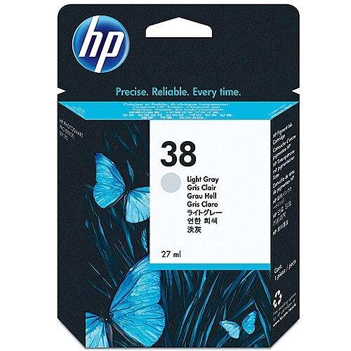 HP 38 Pigment Inkjet Cartridge Light Grey C9414AA