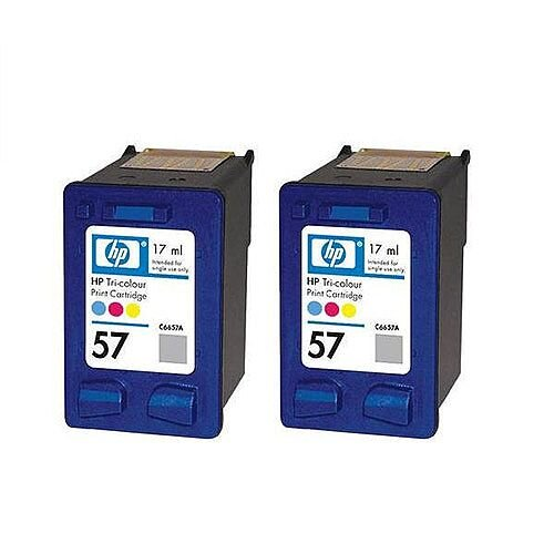 HP 57 Colour Ink Cartridge 17ml C9503AE Pack 2