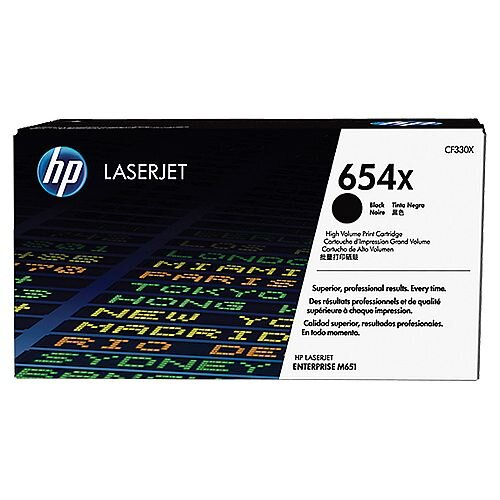 HP 654X Black High Yield LaserJet Toner Cartridge CF330X