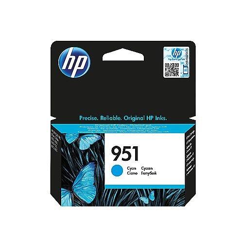 HP 951 Original Inkjet Cartridge Cyan CN050AE