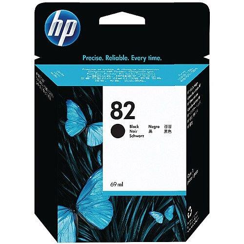 HP 82 Black DesignJet Ink Cartridge 69ml Pack of 2 P2V34A