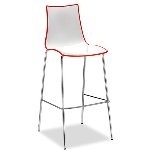 Gecko Red Shell Canteen &Breakout Stool with Chrome Legs