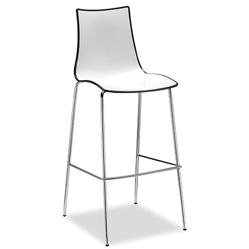 Gecko Anthracite Shell Canteen &Breakout Stool with White Legs