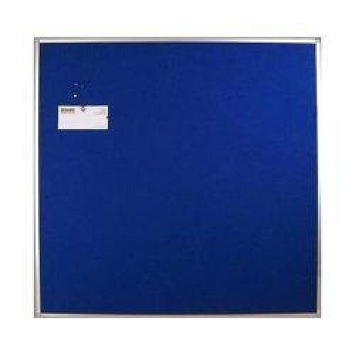 Aluminium Blue Felt-Fabric Display Board 1200x1200mm