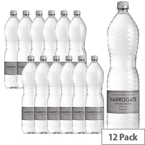 Harrogate Spring Bottled Water Sparkling 1.5L Pack of 12